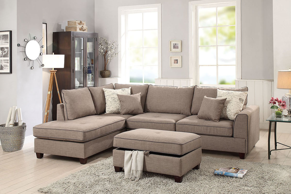 3-Pcs Sectional Sofa - F6544