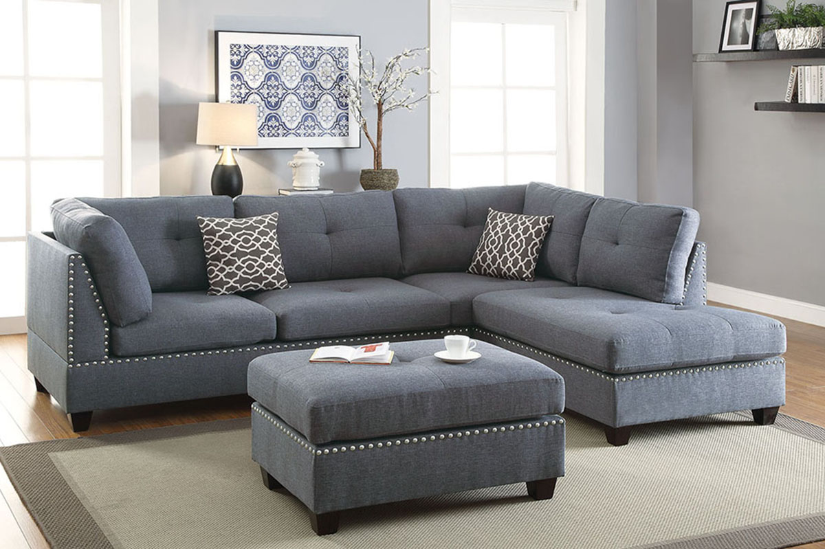3-Pcs Sectional Sofa - F6975